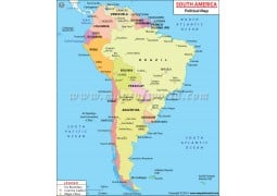South America Political Map - Digital File