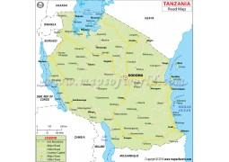 Tanzania Road Map - Digital File