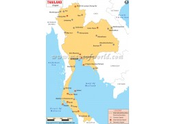 Thailand Airports Map - Digital File