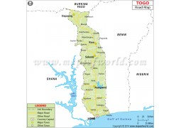 Togo Road Map - Digital File