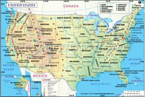 Digital USA Map
