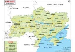 Ukraine Road Map - Digital File
