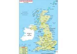 United Kingdom Road Map - Digital File