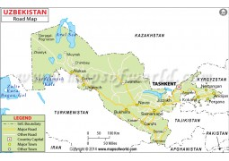 Uzbekistan Road Map - Digital File