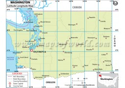 Washington Latitude Longitude Map - Digital File