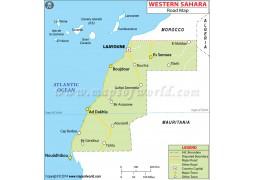Western Sahara Road Map - Digital File