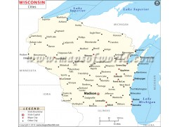 Map of Wisconsin Cities - Digital File