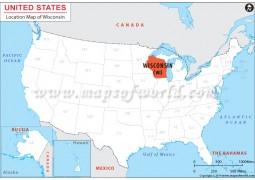 Wisconsin Location Map - Digital File