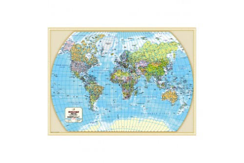 Buy World Political Map with Cities Online – Map World Cities