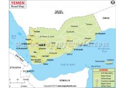 Yemen Road Map - Digital File