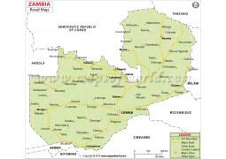 Zambia Road Map - Digital File