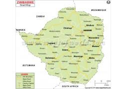 Zimbabwe Road Map - Digital File