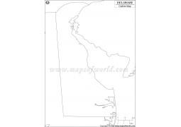 Delaware Outline Map - Digital File
