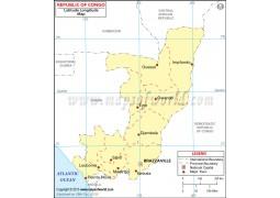 Congo Latitude and Longitude Map - Digital File