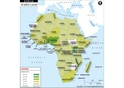 Africa Arable Land Map - Digital File
