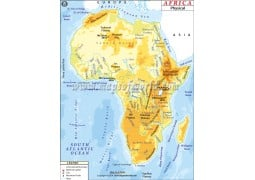 Africa Physical Map - Digital File