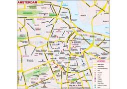 Amsterdam  Map - Digital File
