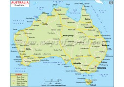 Australia Road Map - Digital File