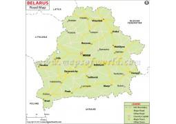 Belarus Road Map - Digital File