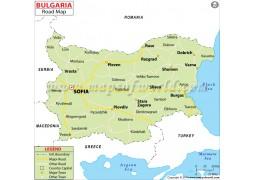 Bulgaria Road Map - Digital File
