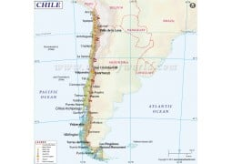 Chile Map - Digital File