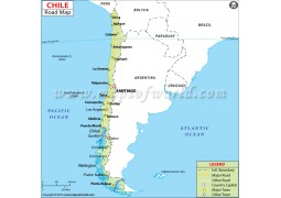 Chile Road Map - Digital File
