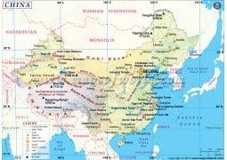 Map Of China With Latitude And Longitude.Buy China Maps