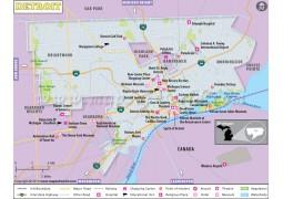 Detroit City Map - Digital File