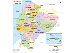 Ecuador Political Map  - Digital File