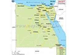 Egypt Road Map - Digital File