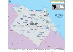 Fortaleza City Map
