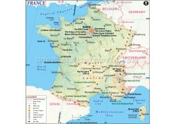 Map of France - Digital File