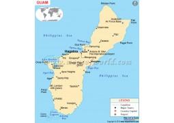 Guam Political Map