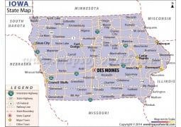 Iowa State Map  - Digital File