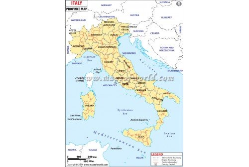 Italy Province Map