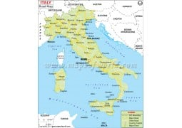 Italy Road Map - Digital File