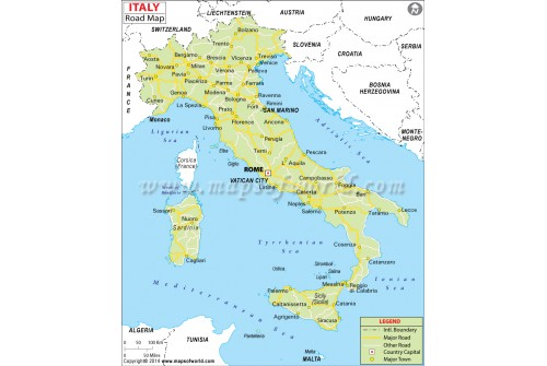 Italy Road Map