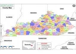 Kentucky County Map - Digital File