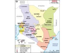 Kenya Political Map - Digital File