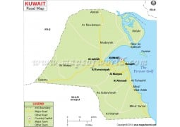 Kuwait Road Map - Digital File
