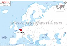 Belgium Location Map - Digital File