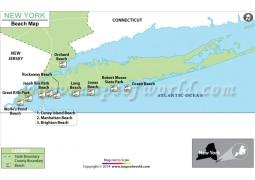 New York Beach Map - Digital File
