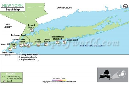 New York Beach Map