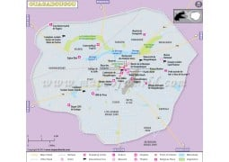 Ouagadougou City Map - Digital File