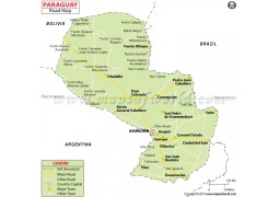 Paraguay Road Map - Digital File
