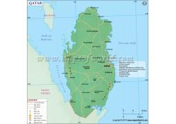 Qatar Map - Digital File