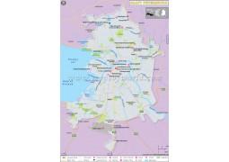 St Petersburg Map - Digital File