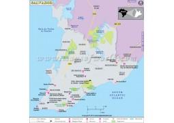 Salvador Brazil Map