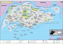 Singapore City Map - Digital File