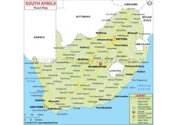 South Africa Road Map - Digital File